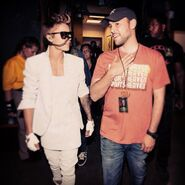 Justin Bieber and Scooter Braun at Believe Tour 2013