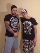 Jeremy and Justin Bieber