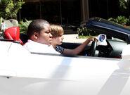 Justin Bieber and Sean Kingston in a Lamborghini 2010