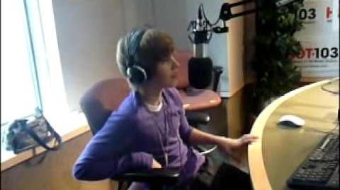 Justin Bieber at HOT 103 Studios