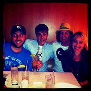 Justin Bieber eating sushi August 2011