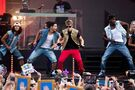 Bieber dancing at MTV World Stage Live in Malaysia 2012