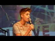 Justin Bieber - Fall - Acoustic @ The Squaire Frankfurt Germany 11.09