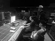Justin Bieber with Josh Gudwin and Maejor Ali