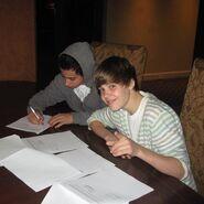 Julian Swirsky and Justin Bieber