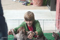 Justin Bieber with puppies 2009