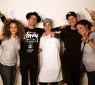 Justin Bieber with the crew 2015