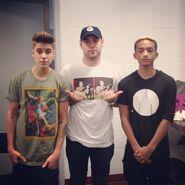 Justin Bieber, Scooter Braun and Jaden Smith