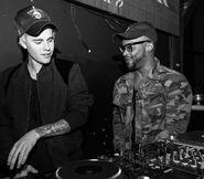Justin Bieber with DJ Tay James