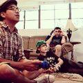 Justin playing video games