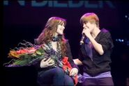 Justin sings One Less Lonely Girl for Caitlin Beadles