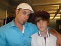 Jeremy and Justin Bieber at the Juno Awards