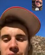 Justin Bieber on FaceTime with Chaz
