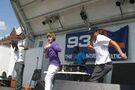 Justin singing at Family Frenzy
