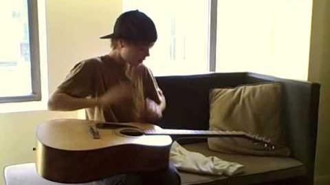 Justin Drew Bieber - August Rush-style Guitar Playing