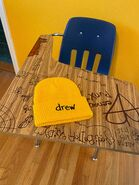 Scribble waffle beanie - golden yellow