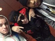 Justin Bieber with Ryan Butler and Khalil