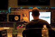Josh Gudwin and Justin in the studio
