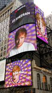 Ed Sheeran and Justin Bieber digital OOH for Youtube Music