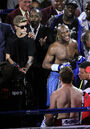 Justin Bieber at Mayweather vs. Canelo fight 2013