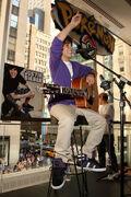 Justin Bieber in the Nintendo World Store 2009