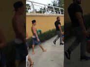 Justin Bieber walking in Miami