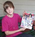 Justin Bieber holding Bravo magazine