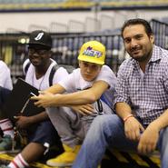 Justin Bieber with DJ Tay James and John
