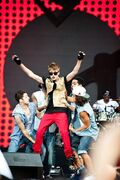 Justin Bieber performing at MTV World Stage Live in Malaysia 2012