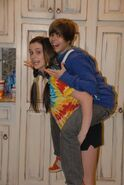 Caitlin Beadles and Justin Bieber