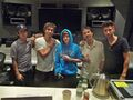 Justin Bieber with The Messengers in the studio 2010