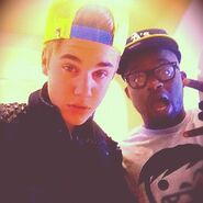 Justin Bieber and DJ Tay James 2012