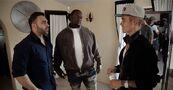 Justin Bieber with Tarik Freitekh and Poo Bear