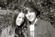 Justin Bieber and his mother Pattie