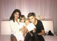 Justin with Jazzy, Jaxo and Sel