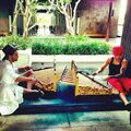 Justin Bieber and Maejor Ali playing instruments