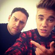 Justin Bieber and Scooter Braun 2013