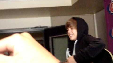 Justin bieber One Time Flip off