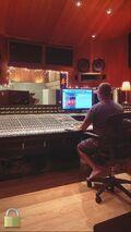 Khalil in the studio