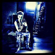 Justin Bieber in factory