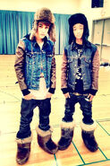 Justin Bieber and Jaden Smith wearing swagboots