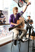 Justin Bieber in the Nintendo World Store, September '09