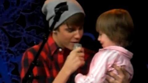 Justin Bieber and Jazmyn Bieber At Massey Hall )