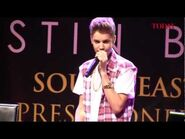 Justin Bieber South East Asia press conference for Believe