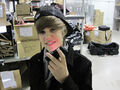 Justin Bieber holding his phone 2009
