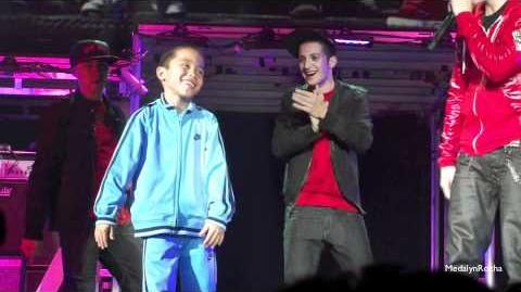 Justin Bieber and Jalen Testerman; San Diego Sports Arena 10 30 10