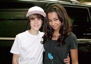 Justin Bieber and Jessica Jarrell 2010
