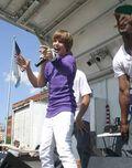 Justin Bieber singing at 2009 Family Frenzy