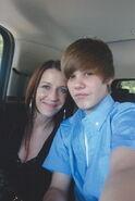 Justin Bieber and Pattie Mallette 2010