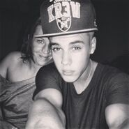 Justin with his mom 2013